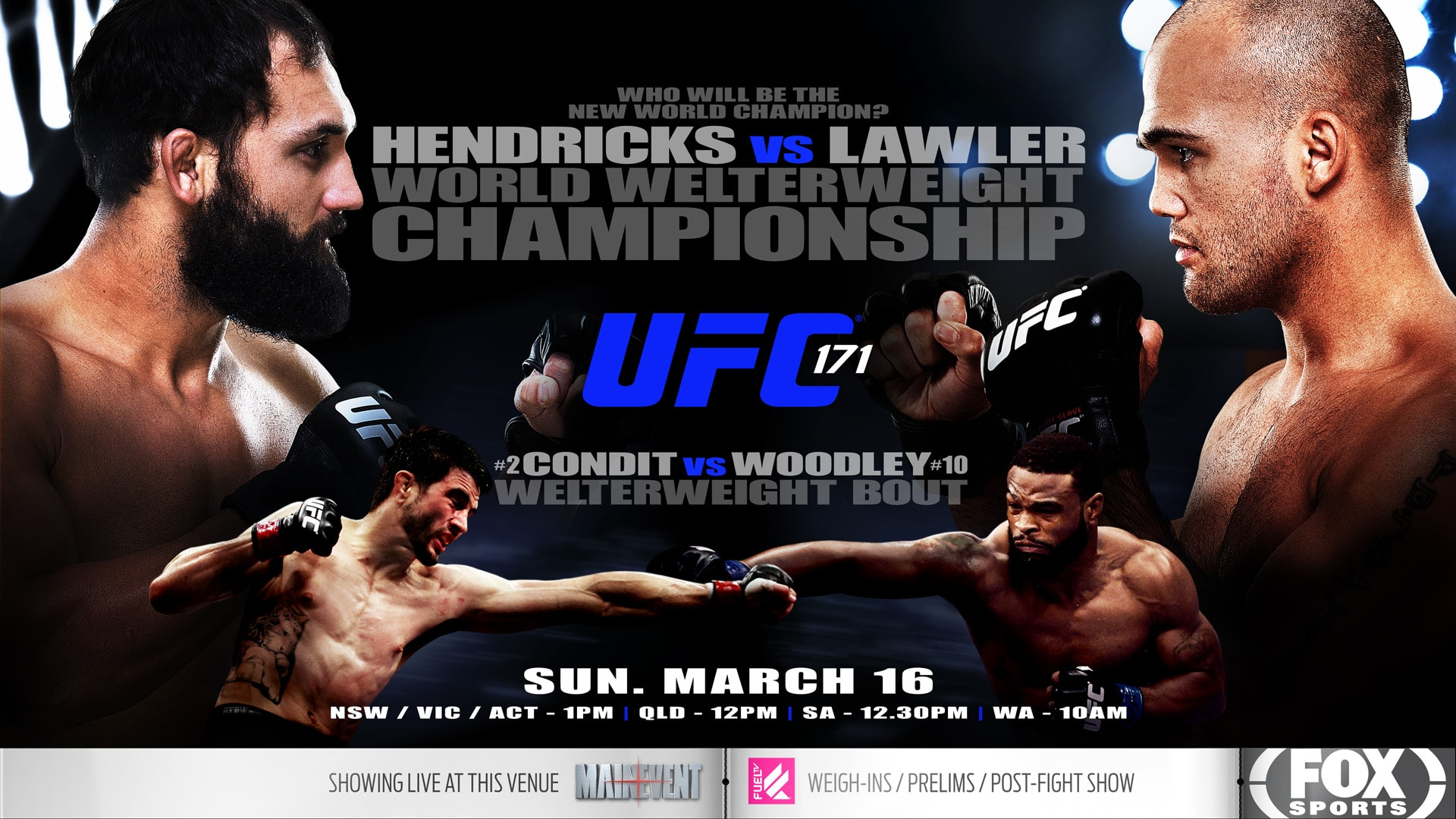 UFC 171 Screened live in the Sports Bar at Westwater Hotel.  UFC 171 Screene...