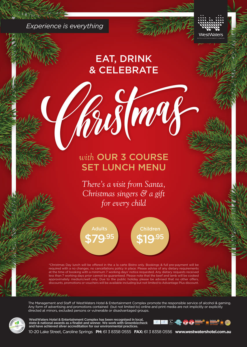 Celebrate Christmas 2018 With Our 3 Course Set Lunch Menu