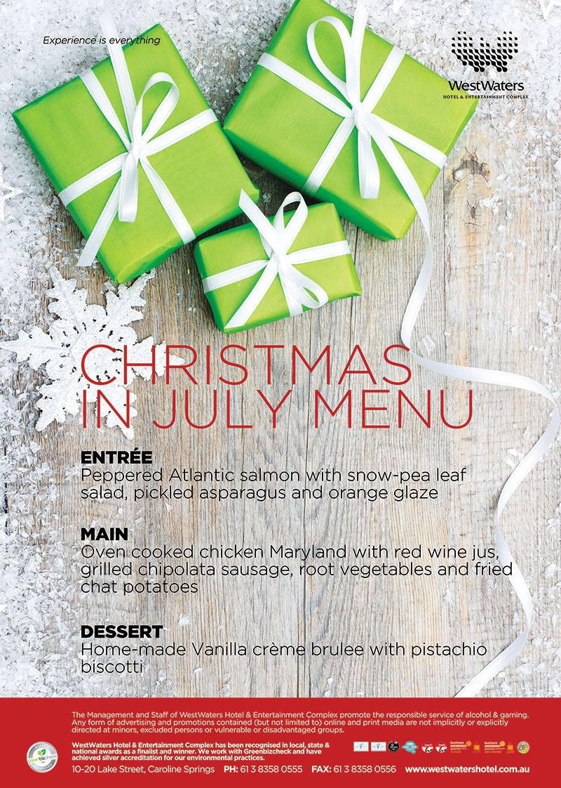 Celebrate Christmas in July WestWaters