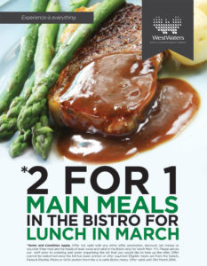 2 for 1 Bistro Lunches