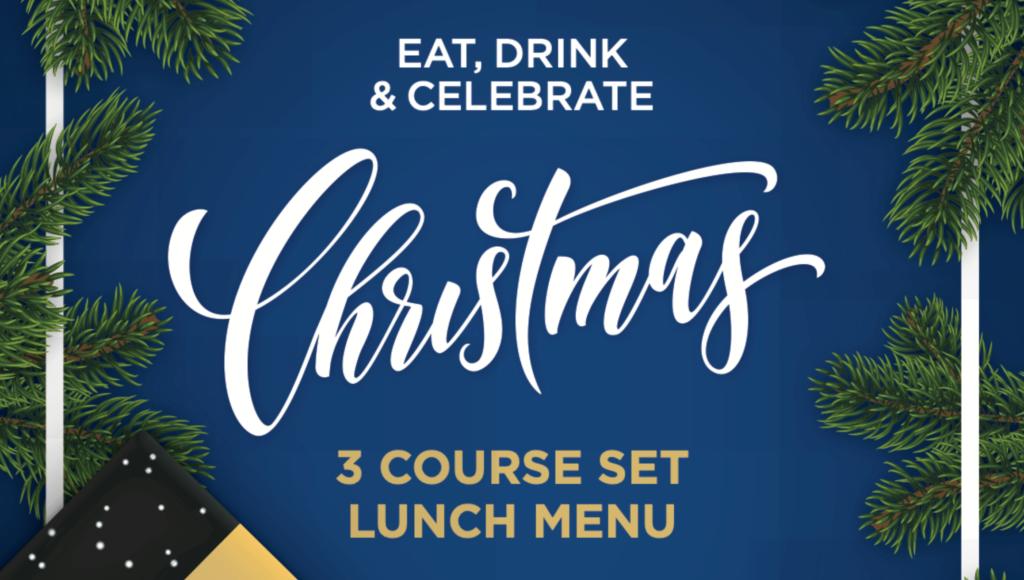 Christmas menu 3 course set lunch
