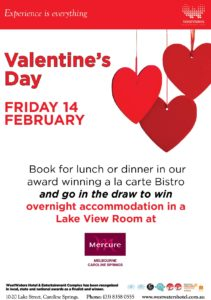 Valentines Day at Westwaters