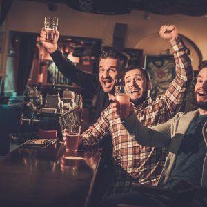 Pub celebration friends