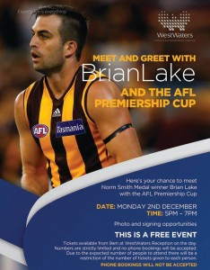 Meet & Greet with Brian Lake and the AFL Premiership Cup